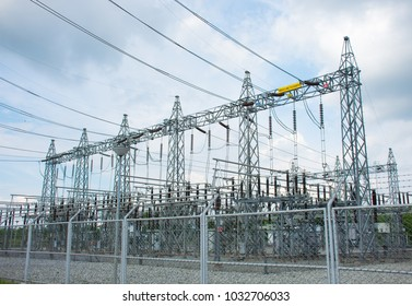 power plant substation.