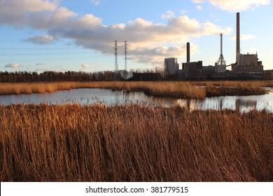 Power plant in Suomenoja (Espoo, Finland).