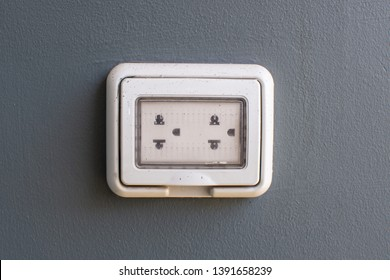 Power plug on wall for charge power of gadget,