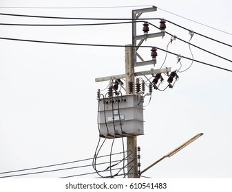 Power poles in Asia