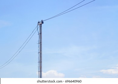 Power poles are made of non-standard steel.