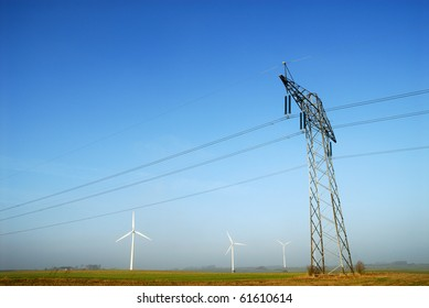 Power pylons and grid