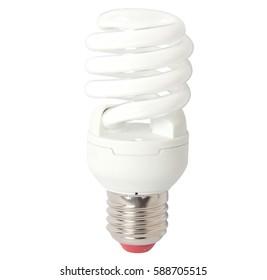 Power save bulb isolated on white background. Lightbulb