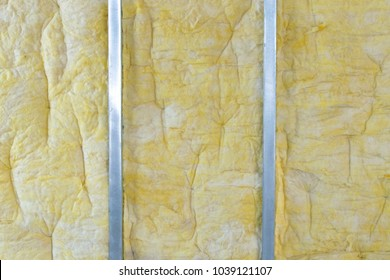 power saving technology: plates of mineral wool on the side wall, between the metal profiles for fastening gypsum plasterboard