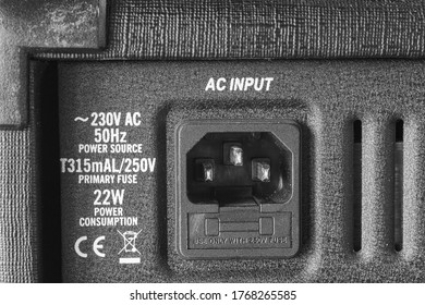 Power socket. Alternating current electrical device. Description of power supply.