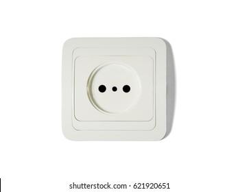 power socket isolated on white background