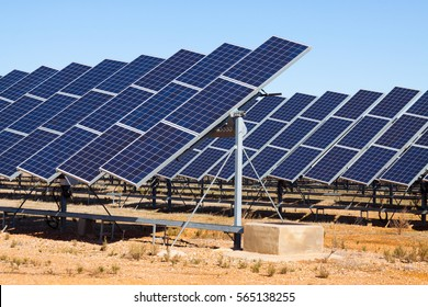 Power solar panels at spanish desert