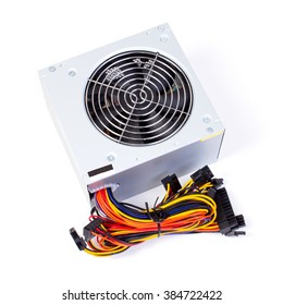 power source for computer on white