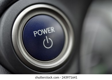 Power and start on and off button in car