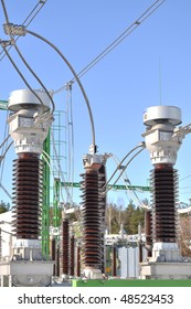 Power station. Energy power coils.