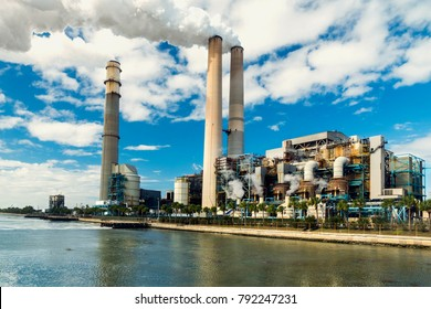Power Station is a major coal-fired power plant. During the winter months, warm-water outfalls from the station draw dozens of  manatees, an endangered species, to the immediate vicinity of the plant.
