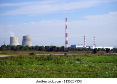 Power station near Mytishy in Moscow region