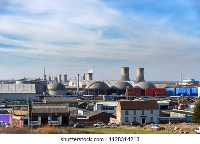 The power station situated at the Wilton chemical complex near Middlesbrough in north east England.