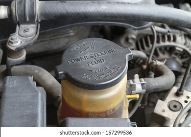 Power Steering Fluid Cap With Warning Label