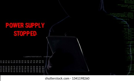 Power supplied stopped, anonymous hacker remotely deactivating security system