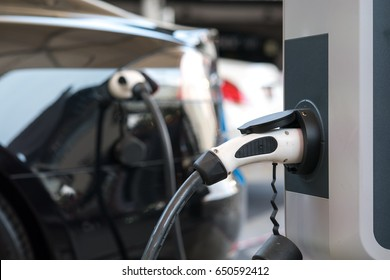 Power supply for electric car charging. Electric car charging station.