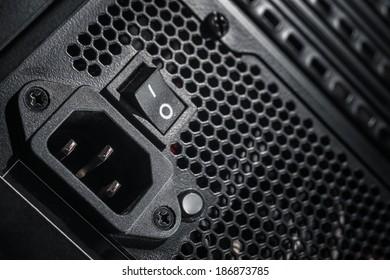 Power Supply of a modern computer closeup