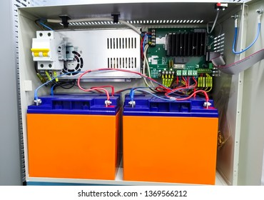 power supply system, 24 Volt backup power. electrical background