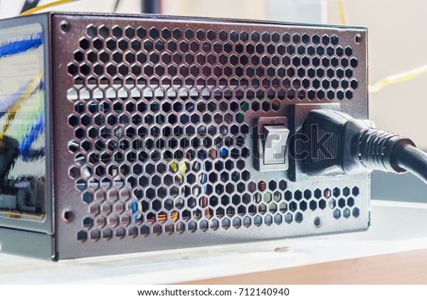 The power supply system of personal computer for  Cryptocurrency mining rig unit machine