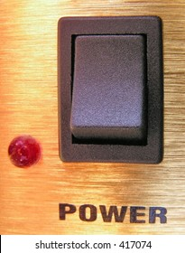 A power switch on a guitar amplifier