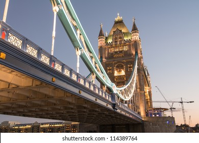Power of Tower Bridge in Autumn - London