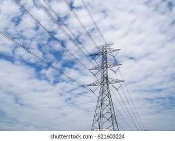 power tower on sky