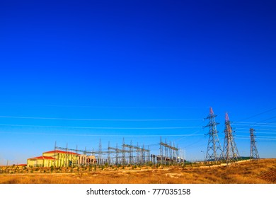 Power transformer powering electrical switchyard