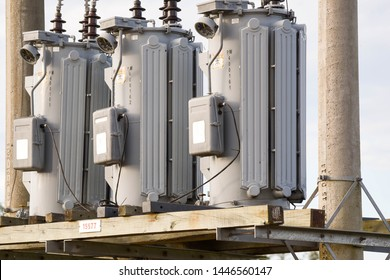 Power transformers installed and operating. Equipment for measuring and distributing electrical energy networks. Energy distribution technology.