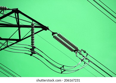 The power transmission line tower