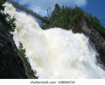 Power of water. Montmorency falls in Canada