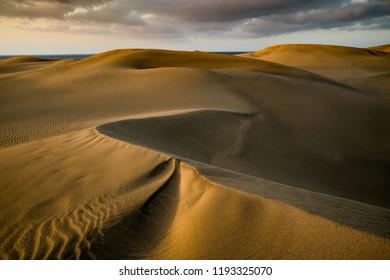 The power of wind - sand dunes, Maspalomas, Gran Canaria