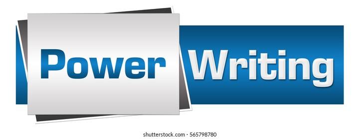 Power Writing Blue Grey Horizontal
