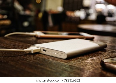 Powerbank and smartphone connected