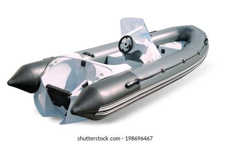 "Powerboat ""burevestnik"" on a white background isolated"