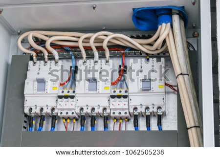 powerful automatic switches fuse box stock photo (edit now fuse box wiring powerful automatic switches are in the fuse box