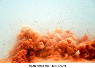 A powerful blast on the mining site in Oman