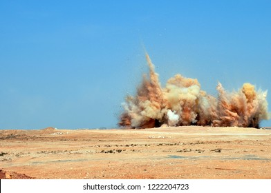 A powerful blast on the mining site in the Middle East