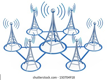 Powerful digital transmitters for TV, mobile and multimedia broadcast sends information signals from high tower