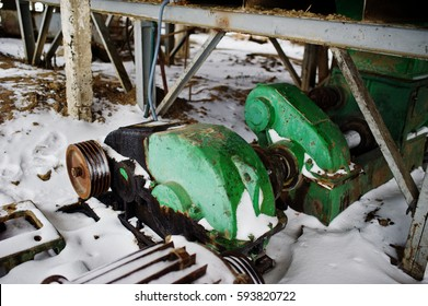 Powerful electric motors of old soviet industrial equipment.