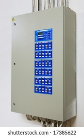 Powerful electronic control panel on a wall