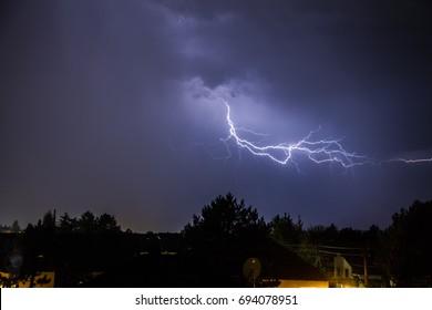 Powerful Lightning Strikes