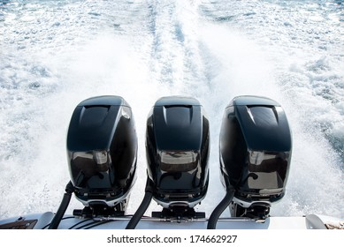 Powerful motor for sports boat