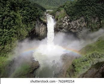 Powerful San Rafael waterfall in Ecuador