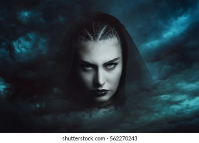 Powerful storm witch  . Dramatic cloudscape