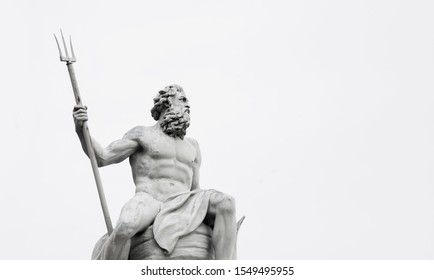 Powerfull mighty god of the sea and oceans Neptune (Poseidon) The ancient statue.