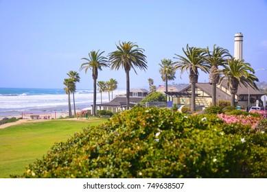 Powerhouse Park overlooking the ocean in Del Mar, California, USA