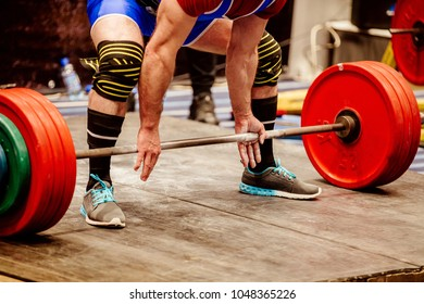 powerlifter prepare exercise deadlift in competition powerlifting