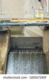 powerplant hydroelectric dam waterfall electric turbine
