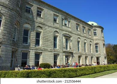 Powerscourt Garden, County Wicklow, Ireland - APRIL 24: Powerscourt House at Powerscourt Garden in Ireland on April 24, 2014