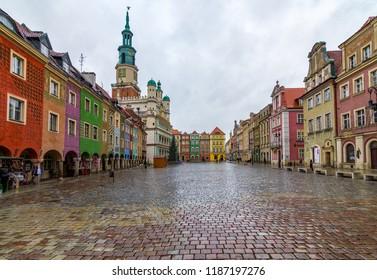 Pozanan, Poland - January 5 2017: Old Town in Poznan